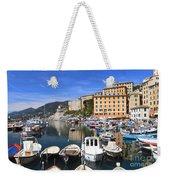 little harbor in Camogli Weekender Tote Bag