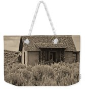 Little House In The Sage Bw Weekender Tote Bag
