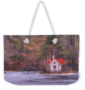 Little House On The Lake Weekender Tote Bag