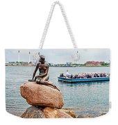 Little Mermaid Statue With Tourboat Weekender Tote Bag