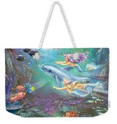 Little Mermaids And Dolphin Weekender Tote Bag