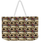Little Miss Blue Eyes 35 Weekender Tote Bag by Andee Design