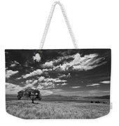 Little Prarie Big Sky - Black And White Weekender Tote Bag