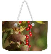 Little Red Berries Weekender Tote Bag