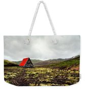 Little Red Cabin Weekender Tote Bag