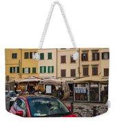 Little Red Fiat Weekender Tote Bag