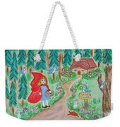 Little Red Riding Hood With Grandma's House On Mailbox Weekender Tote Bag