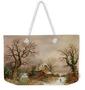 Little Red Riding Hood In The Snow Weekender Tote Bag