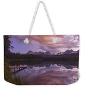 Little Redfish Lake Sunset Stanley Idaho Weekender Tote Bag