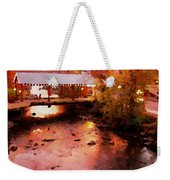 Little River Bridge At Sunset Gatlinburg Weekender Tote Bag
