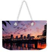 Little Rock Bridge Sunset Weekender Tote Bag
