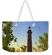 Little Sable Lighthouse Seen Through The Trees Weekender Tote Bag