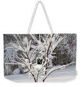 Little Snow Tree Weekender Tote Bag by Karen Adams