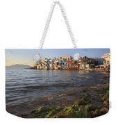Little Venice At Sunset Mykonos Town Cyclades Greece  Weekender Tote Bag