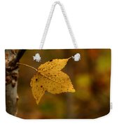 Little Yellow Leaf Weekender Tote Bag