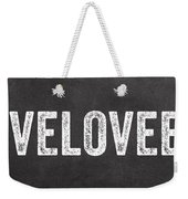 Live Love Eat Weekender Tote Bag by Linda Woods