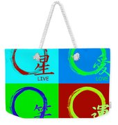 Live Love Luck Laugh Weekender Tote Bag