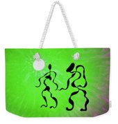 Lively Rhythms In Green Weekender Tote Bag
