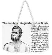 Liver Pad Advertisement Weekender Tote Bag