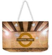 Liverpool Street Underground Weekender Tote Bag