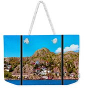 Living On The Edge Of The Battery Painterly Triptych Weekender Tote Bag