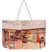 Living Room, 1905 Weekender Tote Bag by Alfred Grenander