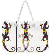 Lizard Love An Abstract Reptilian Adventure Weekender Tote Bag