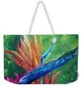Lizard On Bird Of Paradise Weekender Tote Bag