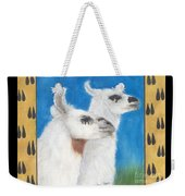 Llamas Tracks Farm Ranch Animal Art Camelid Weekender Tote Bag