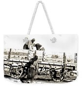Loading The Cart Weekender Tote Bag