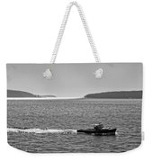Lobster Boat And Islands Off Acadia National Park In Maine Weekender Tote Bag
