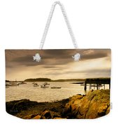 Lobster Boats Cape Porpoise Maine Weekender Tote Bag