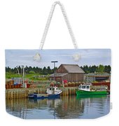 Lobster Fishing Baskets And Boats In Forillon Np-qc Weekender Tote Bag