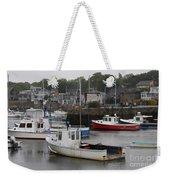 Lobster Fleet Rockport Harbor Weekender Tote Bag