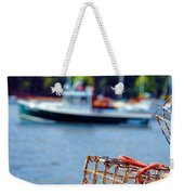 Lobster Trap In Maine Weekender Tote Bag