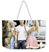 Local Country Store Pinup Weekender Tote Bag