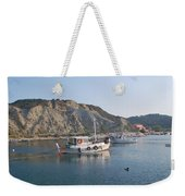 Local Fishing Boats Weekender Tote Bag