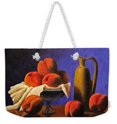 Local Peaches Oil Painting Weekender Tote Bag