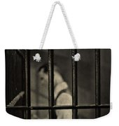 Locked Up Black And White Weekender Tote Bag