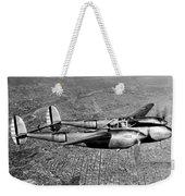 Lockheed P-38 Lightning Fighter Weekender Tote Bag