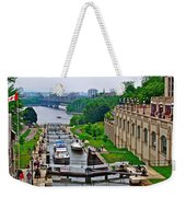 Locks On Rideau Canal East Of Parliament Building In Ottawa-on Weekender Tote Bag