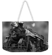 Locomotive 639 Type 2 8 2 Front And Side View Bw Weekender Tote Bag