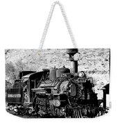 Locomotive Black And White Train Steam Engine Weekender Tote Bag