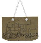 Locomotive Patent Postcard Weekender Tote Bag