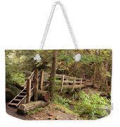Log Bridge In The Rainforest Weekender Tote Bag