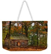 Log Cabin In Autumn Color Weekender Tote Bag