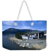 Log Cabin In Carcross Weekender Tote Bag