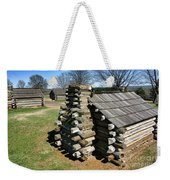 Log Cabins At Valley Forge Weekender Tote Bag