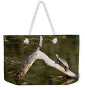 Log Climbing Turtle Weekender Tote Bag