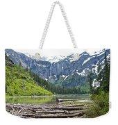 Log Jam In Avalanche Lake In Glacier Np-mt   Weekender Tote Bag